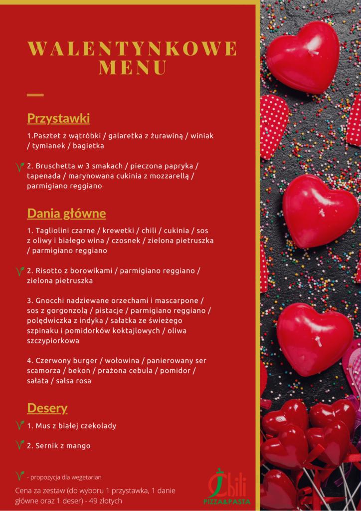 menu walentynkowe